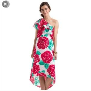 Vineyard Vines Run for the Roses 1 shoulder dress